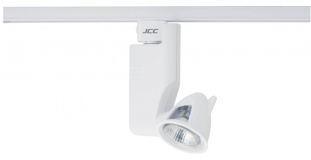 JCC Lighting JC14108WH Aztek Mains IP20 Track Spotlight Integral Transformer MR16 50W GU5.3